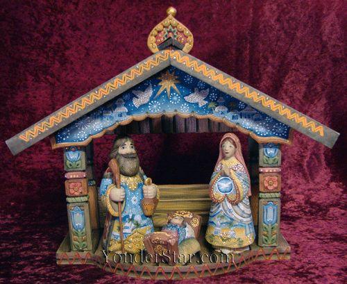 Folk Nativity Scene Derevo Collection by G DeBrekht