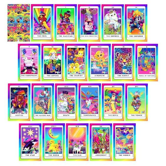 Lisa Frank tarot cards!
