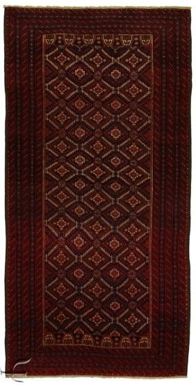 Central Asian Rug - Beluch Carpet  Width	101.00 cm (3,31 Feet) Lenght	198.00 cm (6,50 Feet)