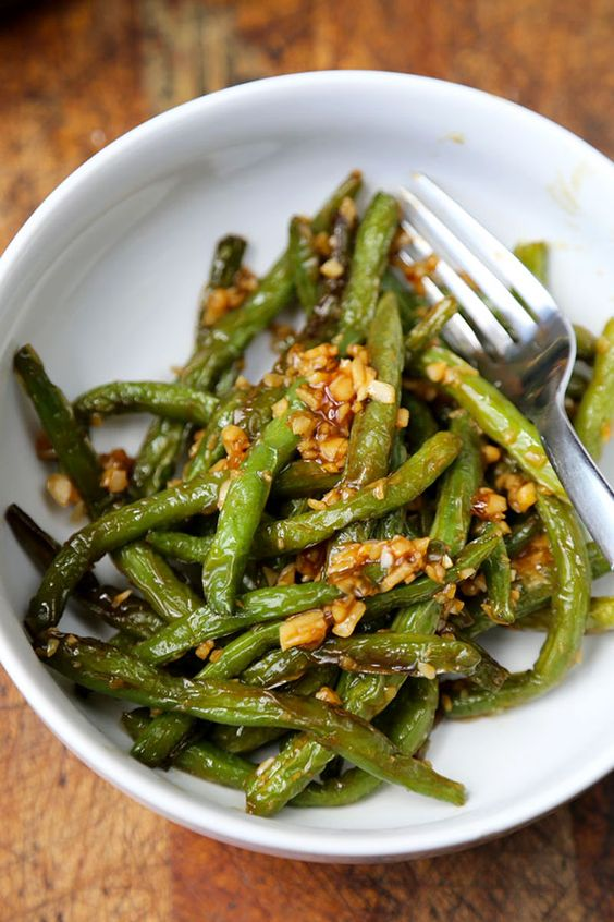 Dry-Fried Green Beans with Garlic Sauce | Recipe | Green ...
