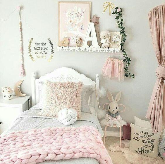 غرف نوم بنات Girls Bedroom Girls Bedroom Lighting Shared Girls Bedroom