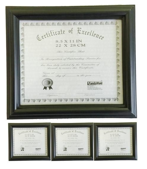 black 85x11 certificate document frame 12 inch triple ridge border 3 pack free shipping and products - Document Frames 85 X 11