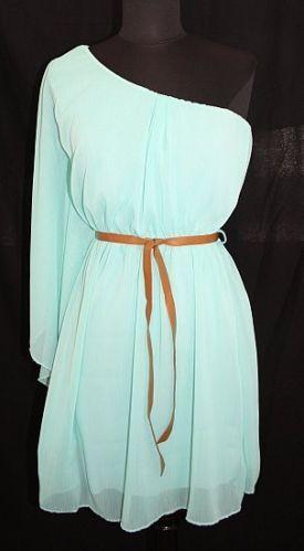 #612 Damen Empire Sommerkleid Kleid Tunika Sommer 34 36 38 XS S M Türkis   eBay