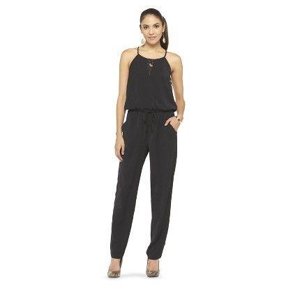 Womenu0026#39;s Drawstring Jumpsuit Black-Mossimo $30 Target ...