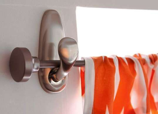 Renter-friendly idea for hanging curtains without damaging your walls. Command hooks and a curtain rod. Easy!