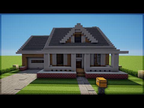Minecraft Como Construir Uma Casa Americana 3 Youtube Em 2020