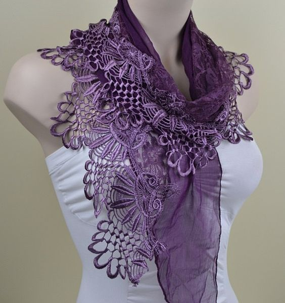 purple scarf