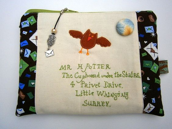 Hogwarts Brief,Harry Potter inspirierte Tasche mit Anhänge,Eulen,Brief, handmade von UlrikesSmaating auf Etsy
