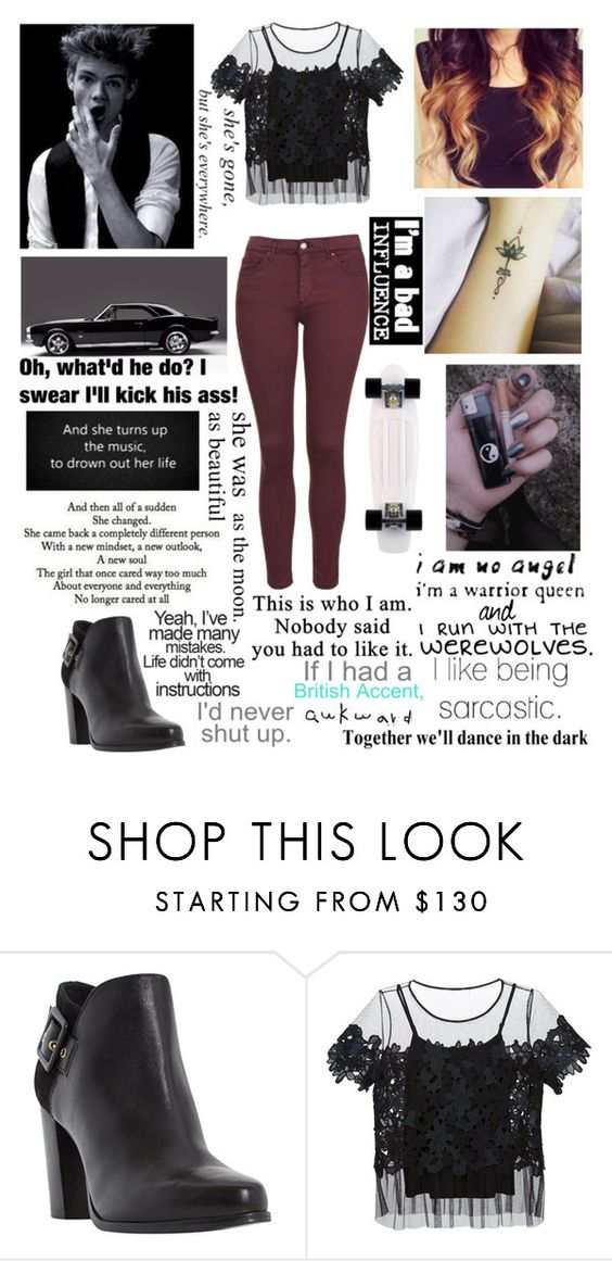 """""""#636"""" by splendoraviolet ❤ liked on Polyvore featuring Dune, Elie Tahari, Paul Brodie, MANGO, Topshop and Love Quotes Scarves"""