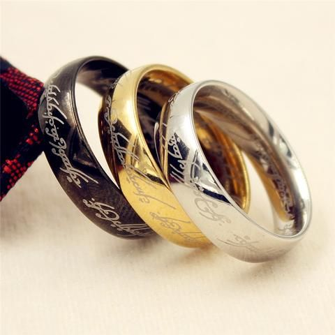 Lord Of The Rings Ring 3 Color Stainless Steel Wedding Ring Rose Gold Ring Set Rings For Men