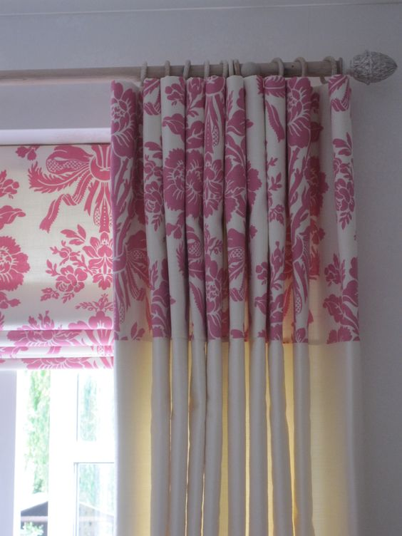 Coordinating drapes and shade.: