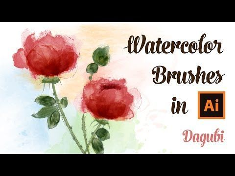 How To Draw Roses With Watercolor Brushes In Adobe Illustrator