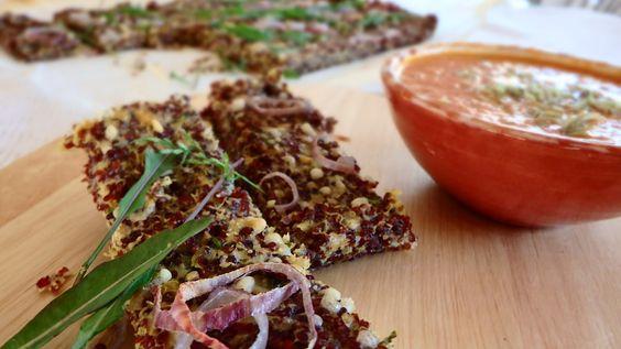 Piza de quinoa vermelha