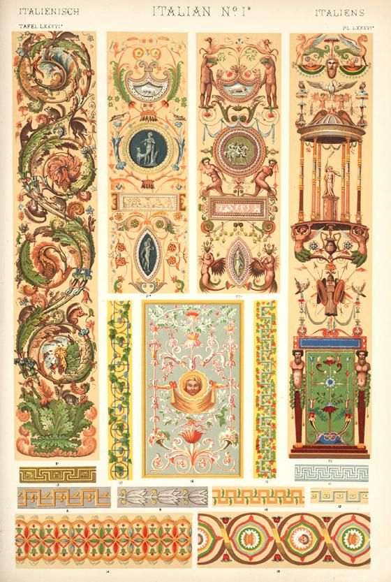 The Grammar Of Ornament A Wonderful Book With Historical Patterns And Decorative Elements Italian Renaissance Medieval Decor Renaissance