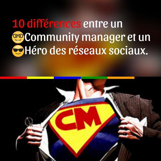10 différences entre un Community Manager et un Héro des réseaux sociaux.