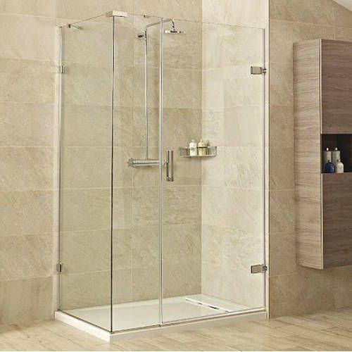 Roman Showers Liber8 frameless rectangular shower