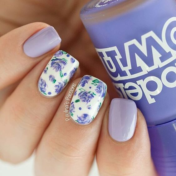 Hi guys! I made these cute purple roses for a guest post at my lovely Christine from @serenitynails_ check out her blog for more pictures and info. Thank you hun for having me Edit: these are inspired by @followthatway
