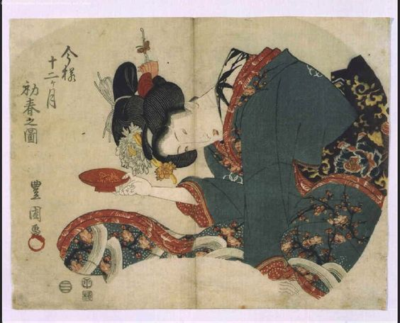 Utagawa Toyokuni I Title:A Modern Approach to the Twelve Months: Early Spring
