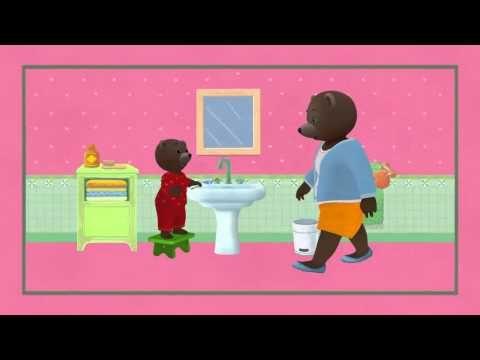 Petit Ours Brun - Comptine pour bien se brosser les dents - YouTube