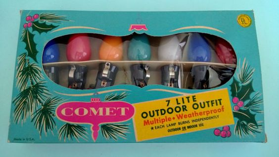 Vintage Comet Outdoor Christmas Lights in by TheVintagePrincipal