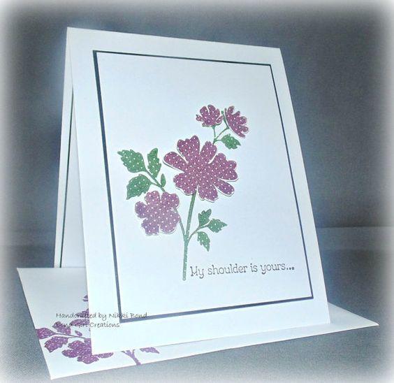 Handmade Purple flower Sympathy Card by BondGirlCreations26, $4.50