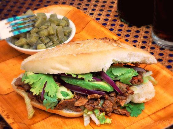 La Cocina de Leslie: Chile Colorado Beef Sandwiches for She Made/Ella Hace 2nd Anniversary