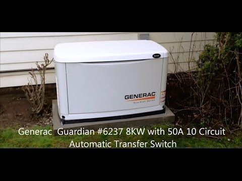 Generac 8kw Automatic Standby Generator With 100 Amp Transfer Switch In 2020 Standby Generators