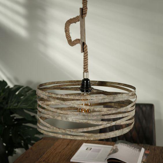 Metalen Hanglamp Aan Touw Santa Roop In 2020 Hanglamp Industriele Hanglampen Lampen