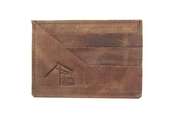 Hazelnut Leather Credit Card Holder by Dark Horse on hellopretty.co.za