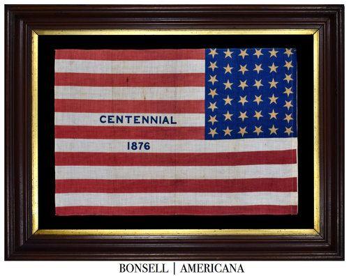 38 Star Antique Flag Includes A Centennial 1876 Overprint Flag Flag Company American Flag