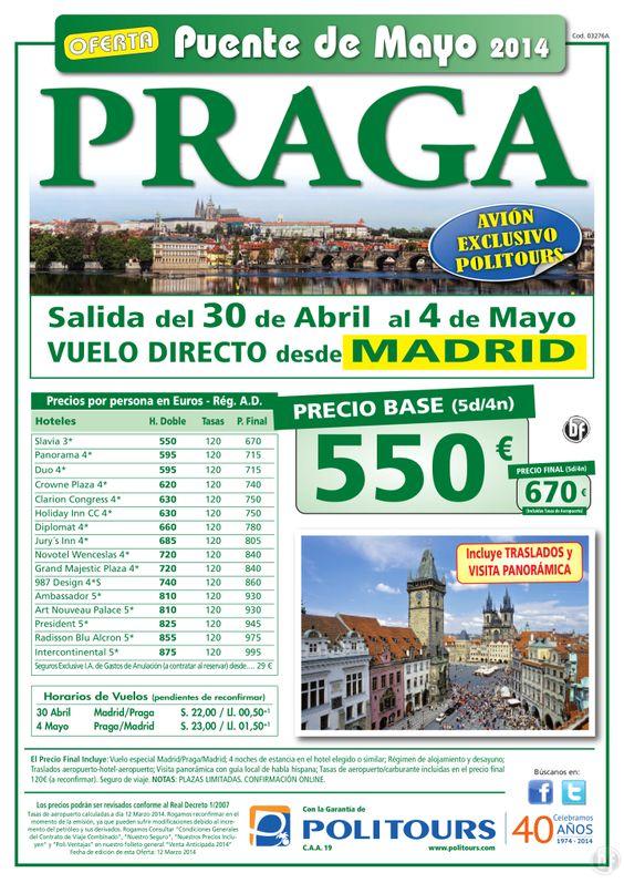 PRAGA - Puente de Mayo - salida 30 de Abril desde Madrid (5d/4n) precio final 670€ ultimo minuto - http://zocotours.com/praga-puente-de-mayo-salida-30-de-abril-desde-madrid-5d4n-precio-final-670e-ultimo-minuto-14/