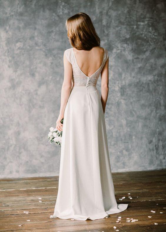 Robe de mariée bohème « Moonlight »  Mariage, Mousseline de soie ...