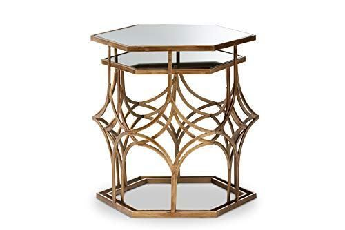 Baxton Studio Coffee Tables One Size Antique Gold Table