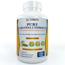 Pure Garcinia Cambogia Extract Plus Green Coffee Beans – 90 Capsules for a Real 30 Day Supply. 65% HCA (Hydroxycitric Acid) and 60% CGA (Chlorogenic Acid). Plus Potassium and Calcium for Optimal Absorption. Super Powerful Fat Burner and Appetite Suppressant Made From the Two Best Weightloss Ingredients. 1500 Mg. Slim Down and Sculpt Your Figure with These Natural Effective Diet Pills. Easy. Backed By Amazon Guarantee.