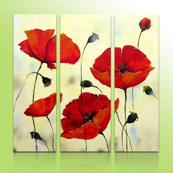 Pinturas De Amapolas Rojas Buscar Con Google Dise 241 Os