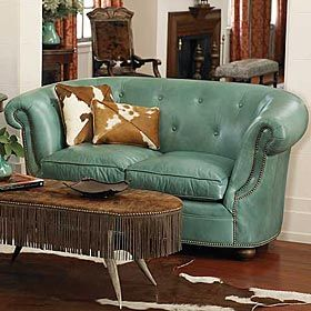 TURQUOISE LOVESEAT from King Ranch