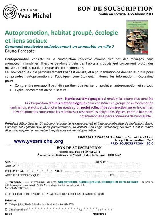 souscription-Livre HabitatGroupéjpg (763×1024) Cohousing Ideas