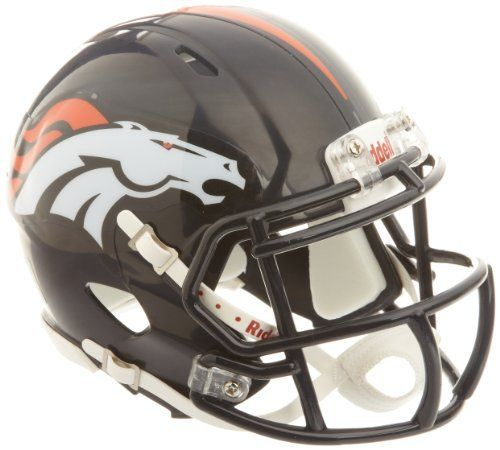 NFL Denver Broncos Revolution Speed Mini Helmet by Riddell. Save 4 Off!. $23.99. The latest craze for headware on the NFL field is the new Riddell Revolution Speed helmet. These are the mini version of these popular helmets and are great to collect, for decorating your man cave or for autograph signings