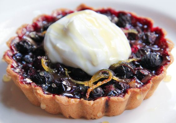 Blueberry Tartlets with Honey and Lemon Zest
