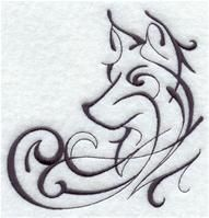 Machine Embroidery Designs at Embroidery Library! - A Intricate Ink Wolves Design Pack - Md