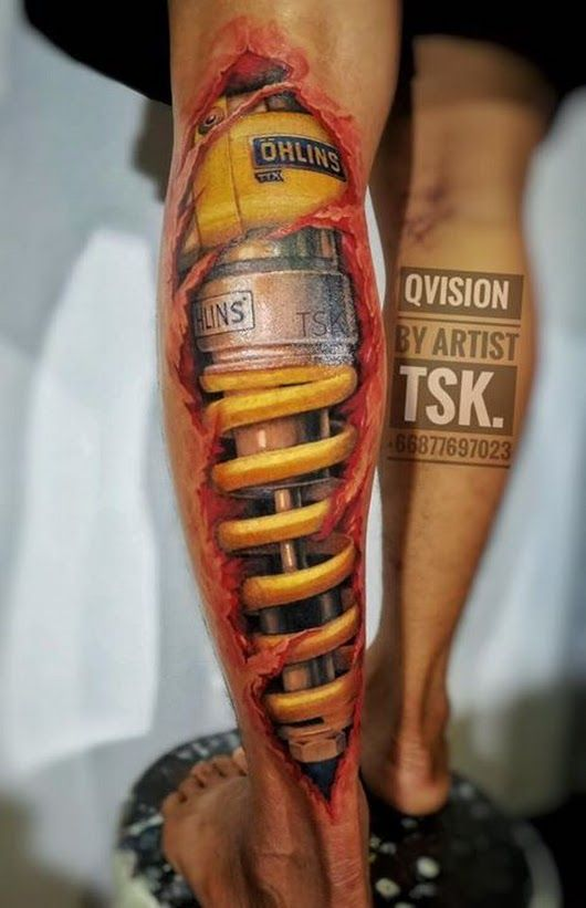 Ash Dddn Biomechanical Tattoo 3d Tattoos 3d Tattoo