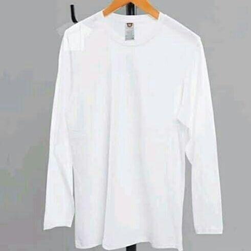 Kaos Polos Lengan Panjang Available Size M L Xl Price 60 000 Bahan Cotton Combed 30 S Warna Putih Open Reseller Fashion Pictures Clothes Fashion