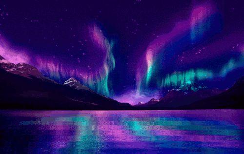 Resultado de imagem para aurora boreal gif