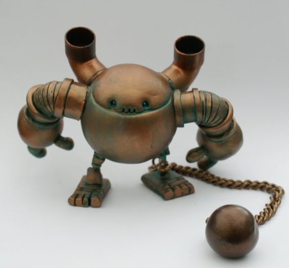 Custom Rusty Robot Minion Designed and Made for by Spacecowsmith