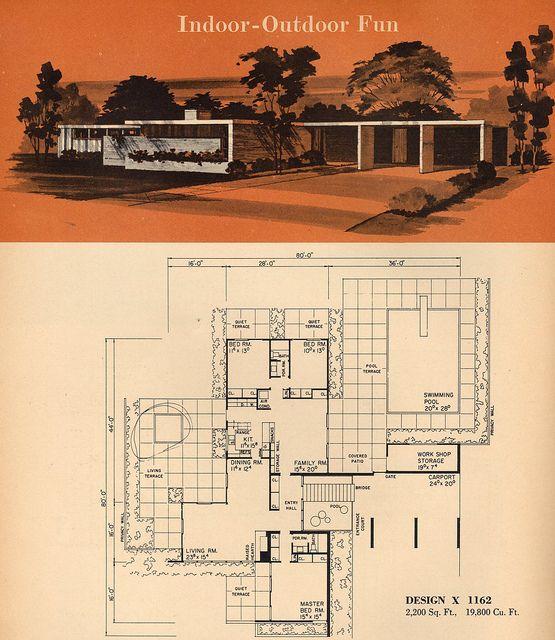 67 best Midcentury Floor Plans images on Pinterest | Modern house ...