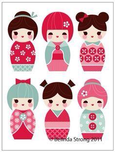Papier dolly  dolls: