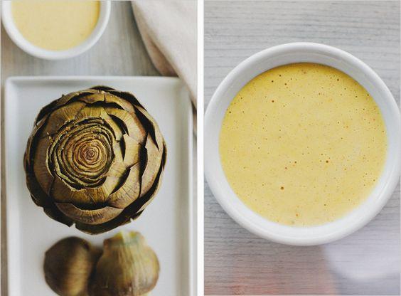 steamed artichokes and homemade garlic aioli--yum!