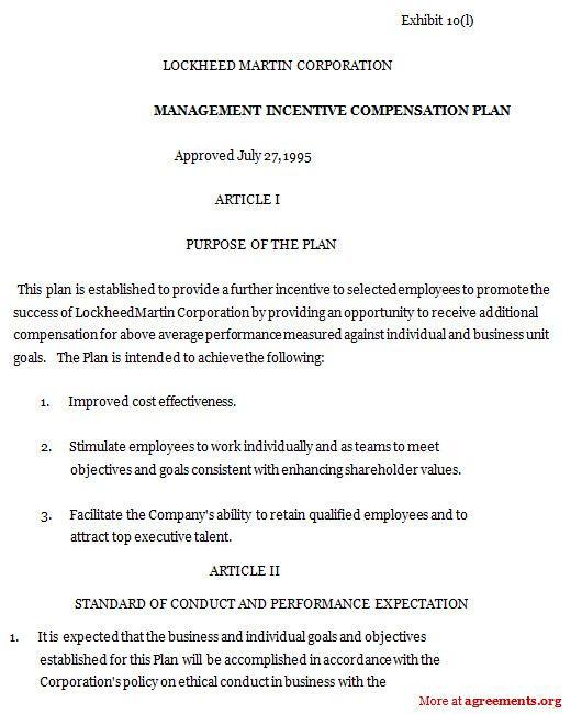Incentive Compensation Plan Template Unique Management Incentive Pensation Plan Sample Management How To Plan Event Planning Quotes Communication Plan Template