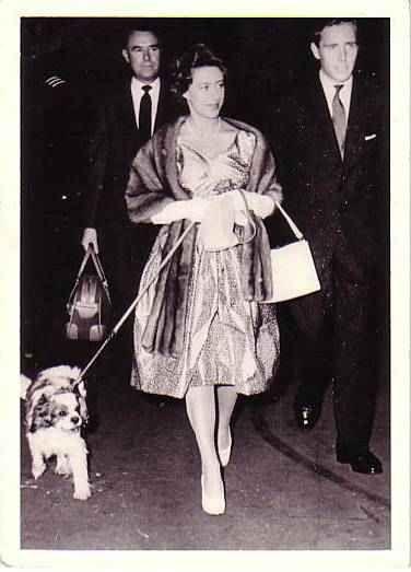 Princess Margaret and Rowley the Cavalier King Charles Spaniel.   #Dog