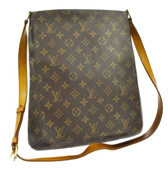 Louis Vuitton Musette Gm Sl0022 Extra Large Long Strap Brown Monogram Cross Body…